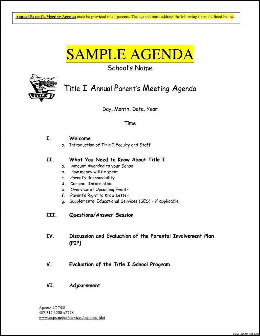 Meeting Agenda Template Free Brochure Templates Sales Word ...