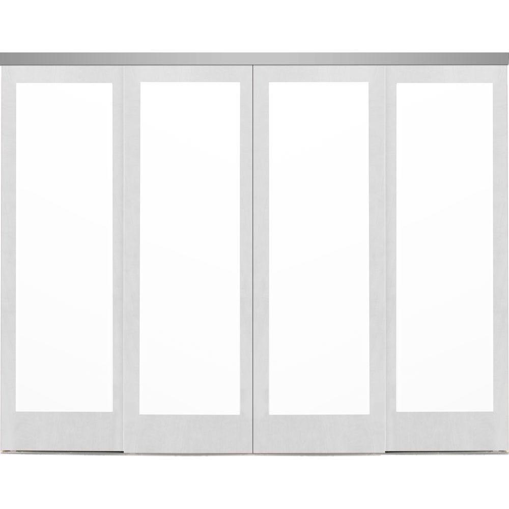 Impact Plus 120 In X 96 In Mir Mel Primed Mirror Solid Core Mdf Interior Closet Sliding Door With Chro Sliding Doors Sliding Mirror Closet Doors White Mirror