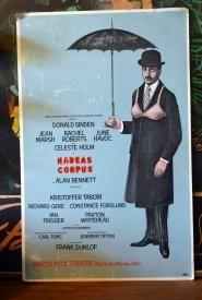 Habeas Corpus at Martin Beck Theatre- Nov 1975 original broadway musical poster