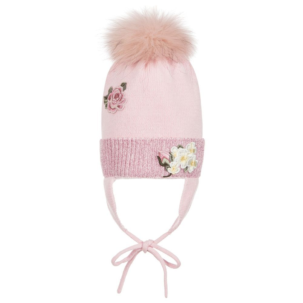 brand Girls Knitted Pom-Pom Hat at Childrensalon.com af24b278b6c6