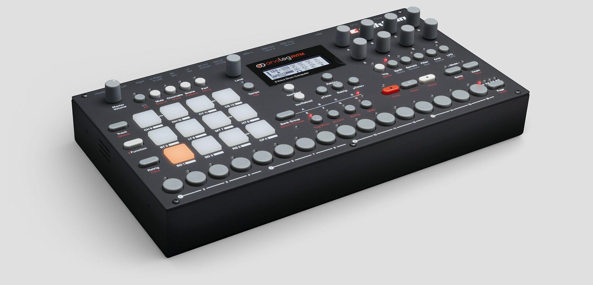 elektron analog rytm analog drum machine with sample support synthesizers drum machine. Black Bedroom Furniture Sets. Home Design Ideas