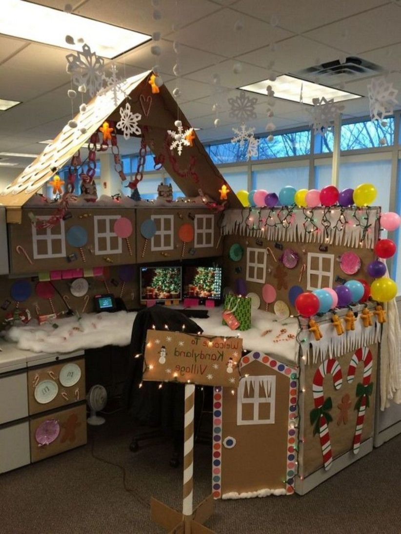 lovely office cubicle christmas decorating ideas | 41 Gorgeous Office Holiday Decors that Inspire | Office ...