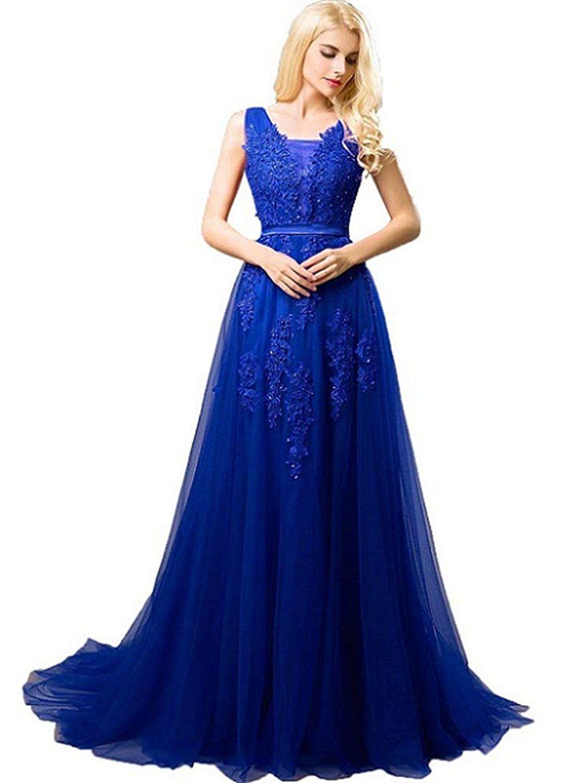 SHANGSHANGXI Formal Evening Dresses Deep V-neck Tulle Burgundy Prom ...