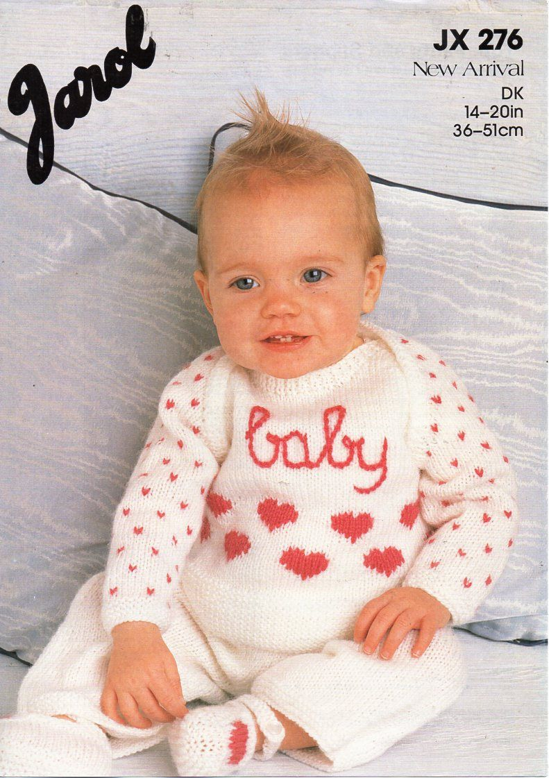 da8ff9e30 baby knitting pattern pdf baby sweater trousers shoes heart motif ...