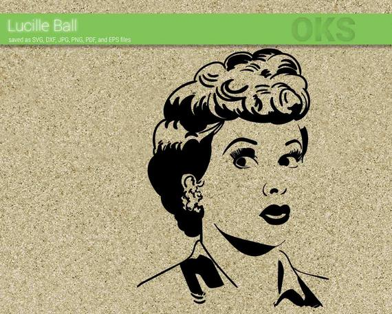 Download Lucille ball svg download, i love lucy clipart, vintage ...