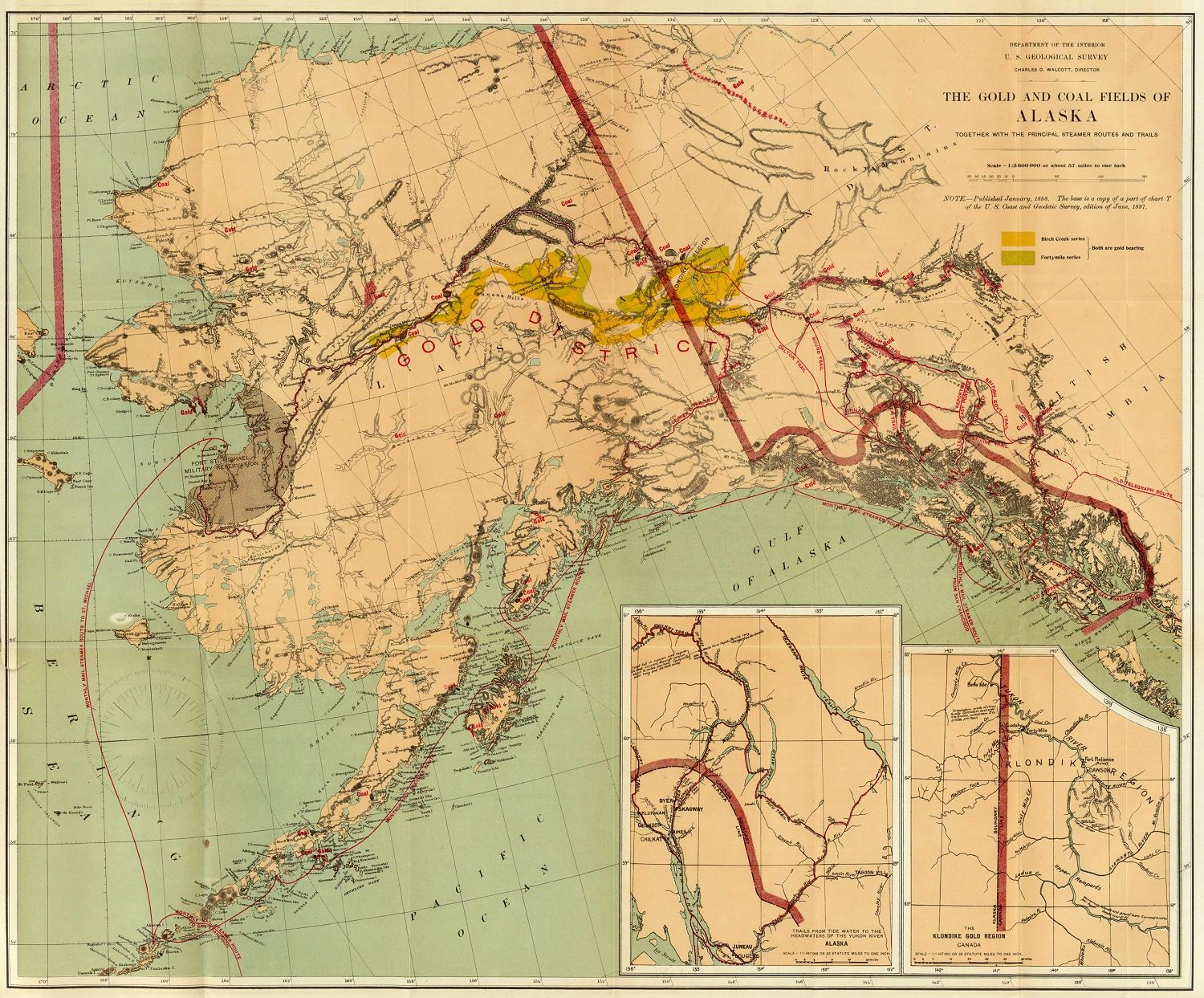 1898 map of the alaska and yukon gold fields in the news 1898 map of the alaska and yukon gold fields in the news alaskaweb gumiabroncs Image collections