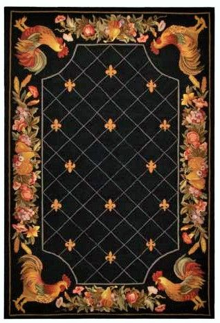 Beautiful Hooked Rooster Rug Country Cottage Decor French Decorating