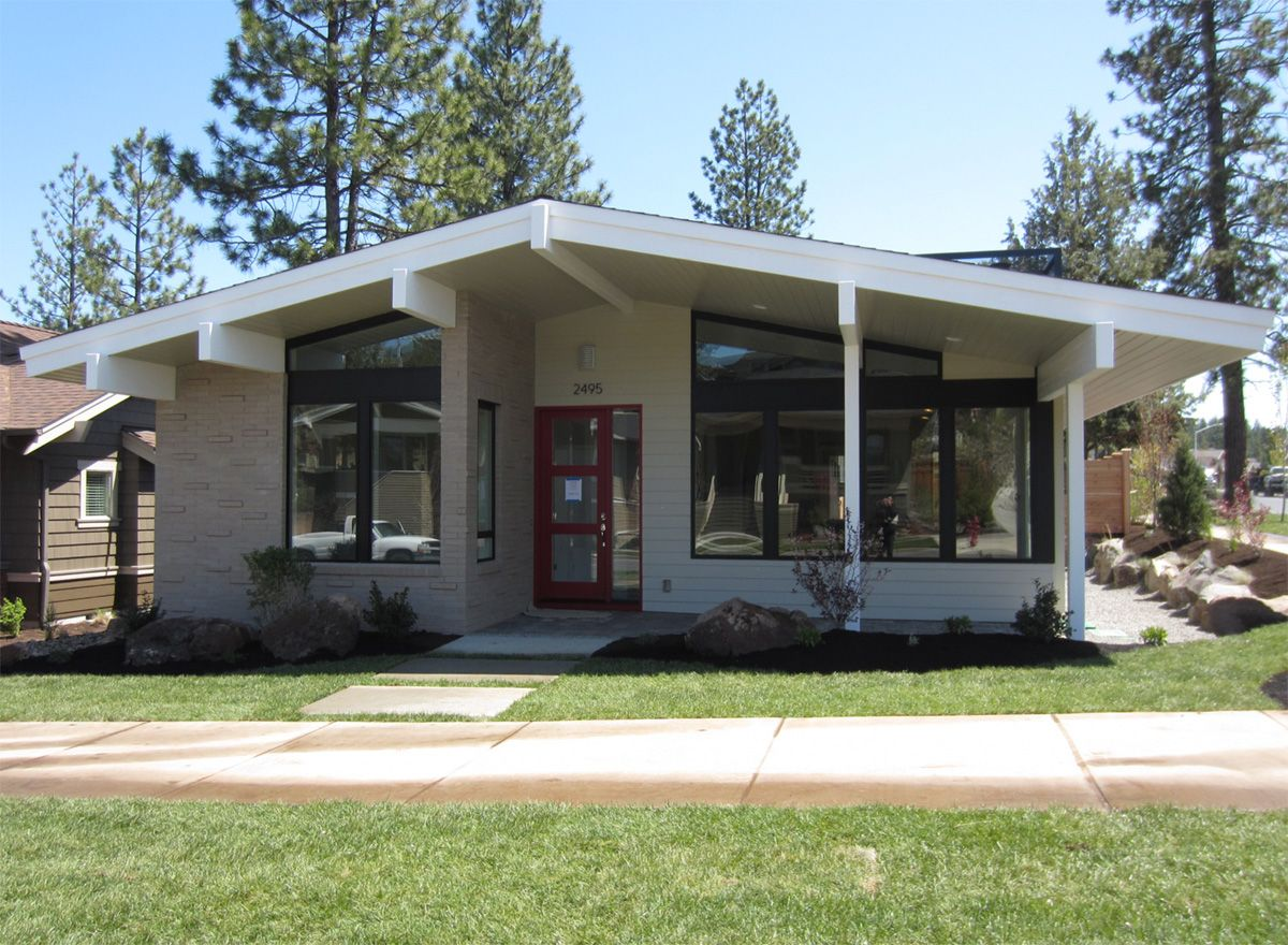 Mid century modern house plan bend oregon mcm for Modern contemporary house plans for sale