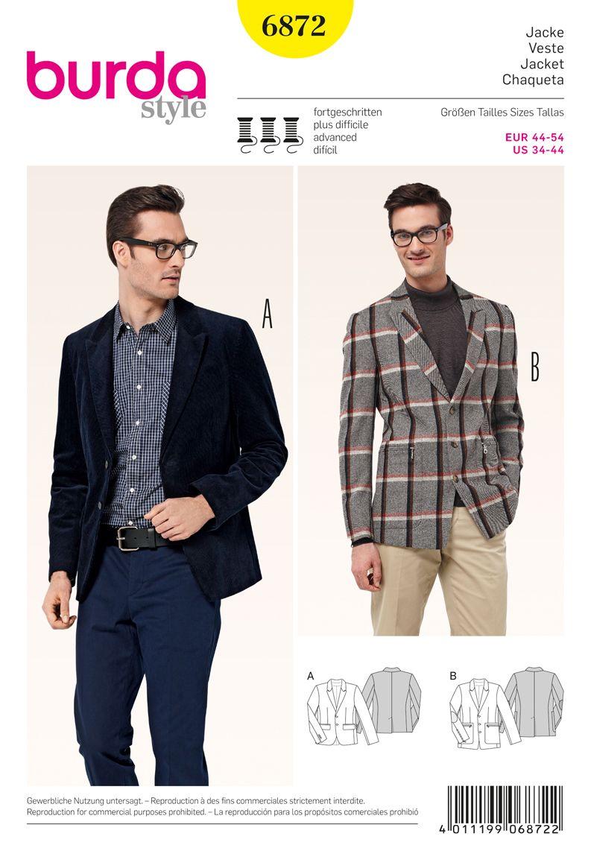 Simplicity Creative Group - Burda Style Mens Wear, Sports Wear | For ...