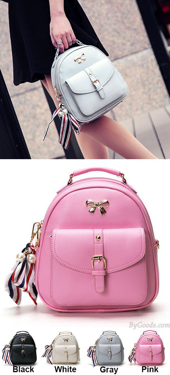 290589b11c48 Cute Bow College Multifunction Lady s Bag Front Belt Handbag Metal Lock  Shoulder Bag Backpacks for big sale !  bag  shoulder  Handbag  backpack  bow