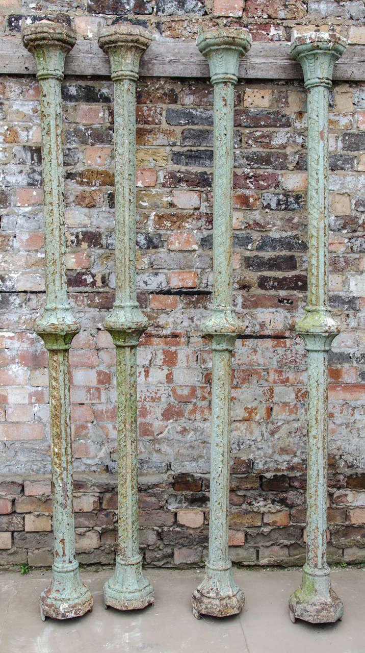 Best Set Of Four Antique Victorian Cast Iron Columns Image 2 400 x 300