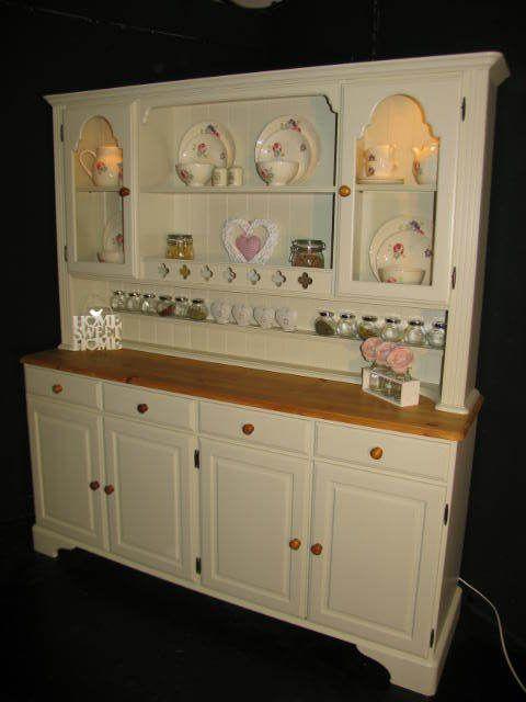Large Ducal Pine Farmhouse Kitchen Welsh Dresser Shabby Chic In Farrow U0026  Ball