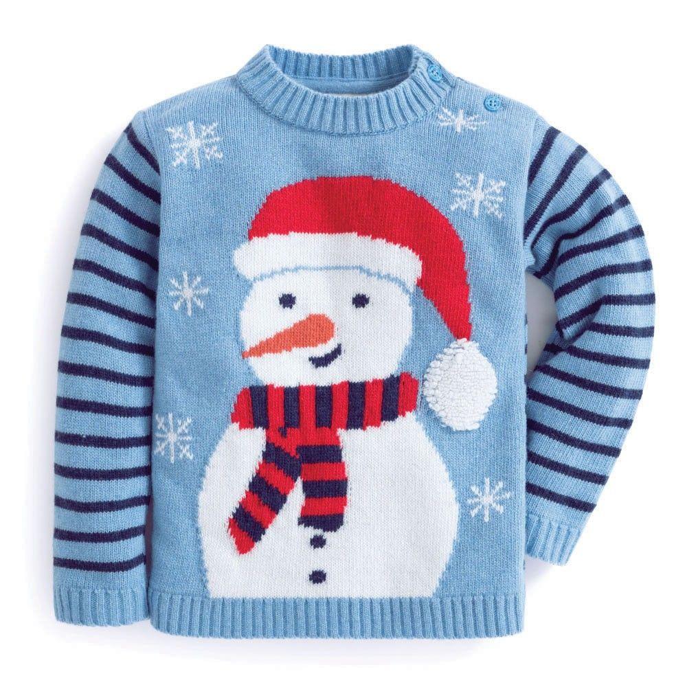 Jojo Christmas Sweater.Snowman Cashmere Mix Jumper Klinci Baby Sale Crochet