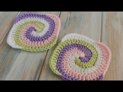 How to Crochet a Spiral Granny Square - YouTube | DIY (Crochet ...