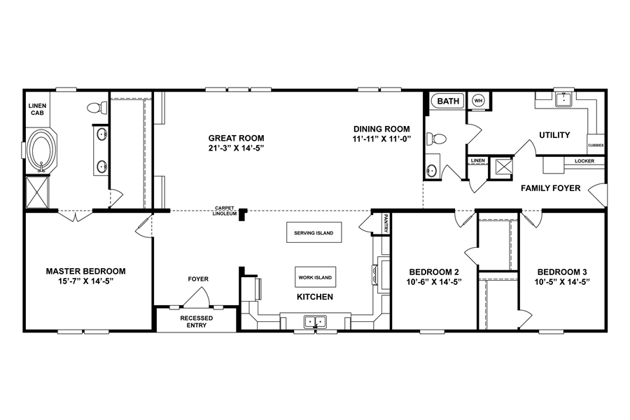 Oakwood Homes Floor Plans floorplan the veranda | 30scl32723ah | oakwood homes of greenville
