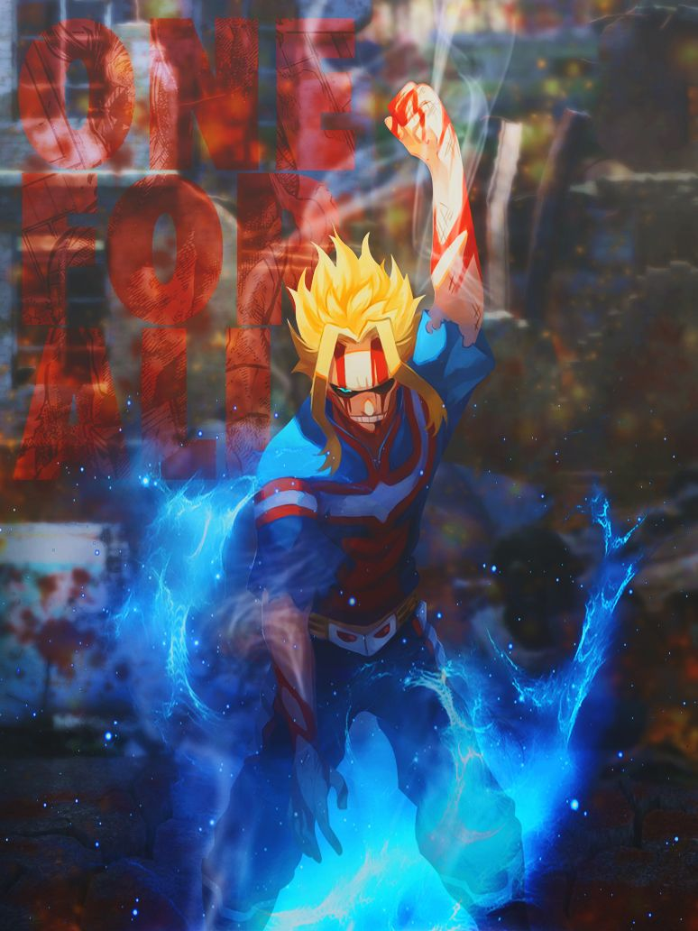 All Might One For All By Dinocojv My Pictures Boku No Hero Academia My Hero