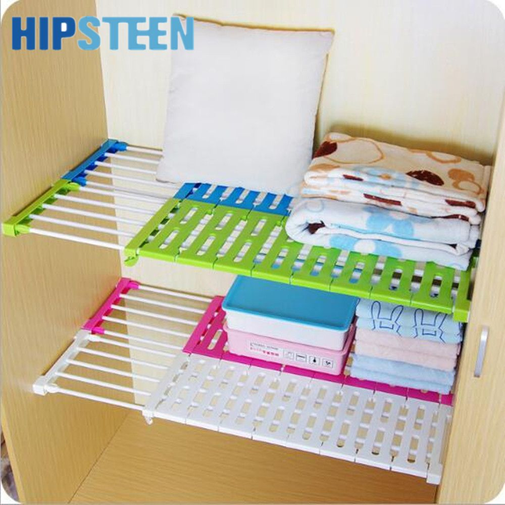 Hips Wardrobe Nail Free Storage Parion Cabinet Bathroom Non Trace Shelf Adjule Layered Rack
