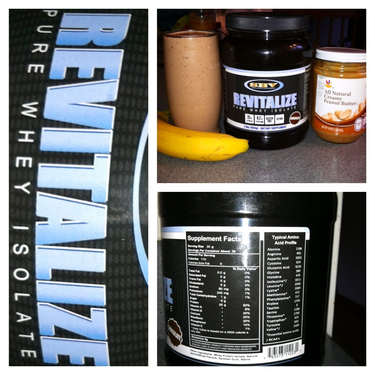 Delicious protein shake made with revitalize protein! Go to www.sbvfitness.com highest quality protein out there with 25g protein, 1g carb, 110 cal. See results faster!