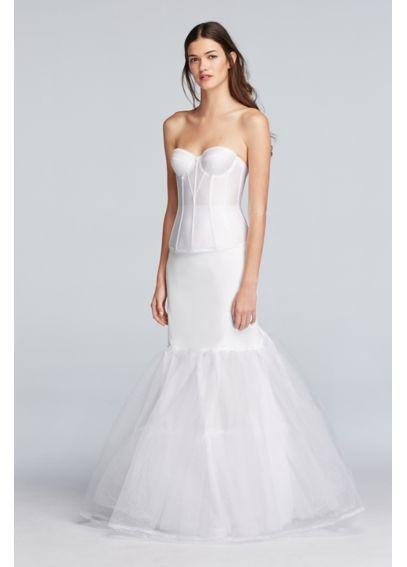 A Line Silhouette Slip David S Bridal Bridal Shapewear Wedding Dress Long Sleeve Slip Wedding Dress