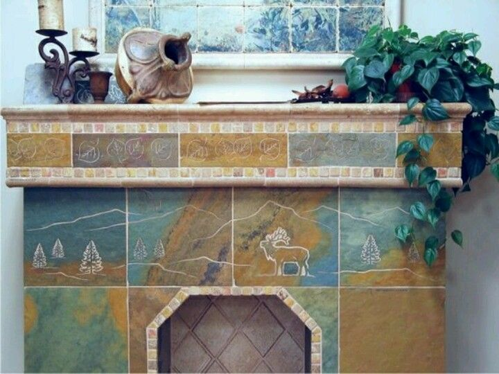 Engraved Tile Fireplace Surrounds Are A Perfect Choice For Where An  Enhanced Focal Point Is Desired. We Work With All Tile And Natural Stones  Includinu2026