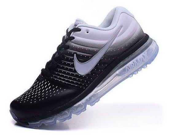 Womens Nike Air Max 2017 Leather White Black Factory Store