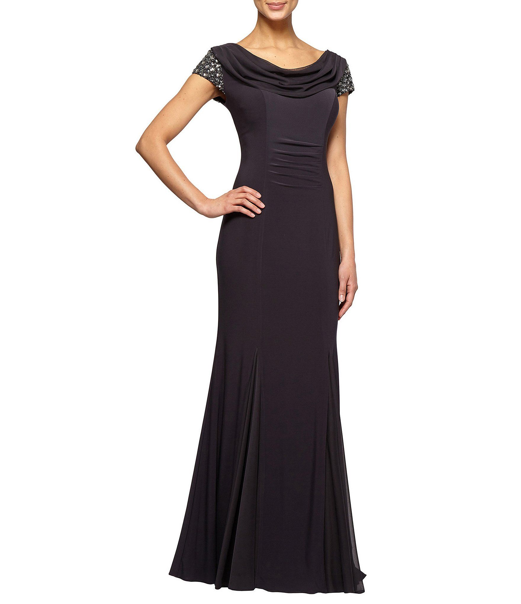 Alex Evenings Embellished Cowlneck Gown | Dillards, Gowns and Wedding