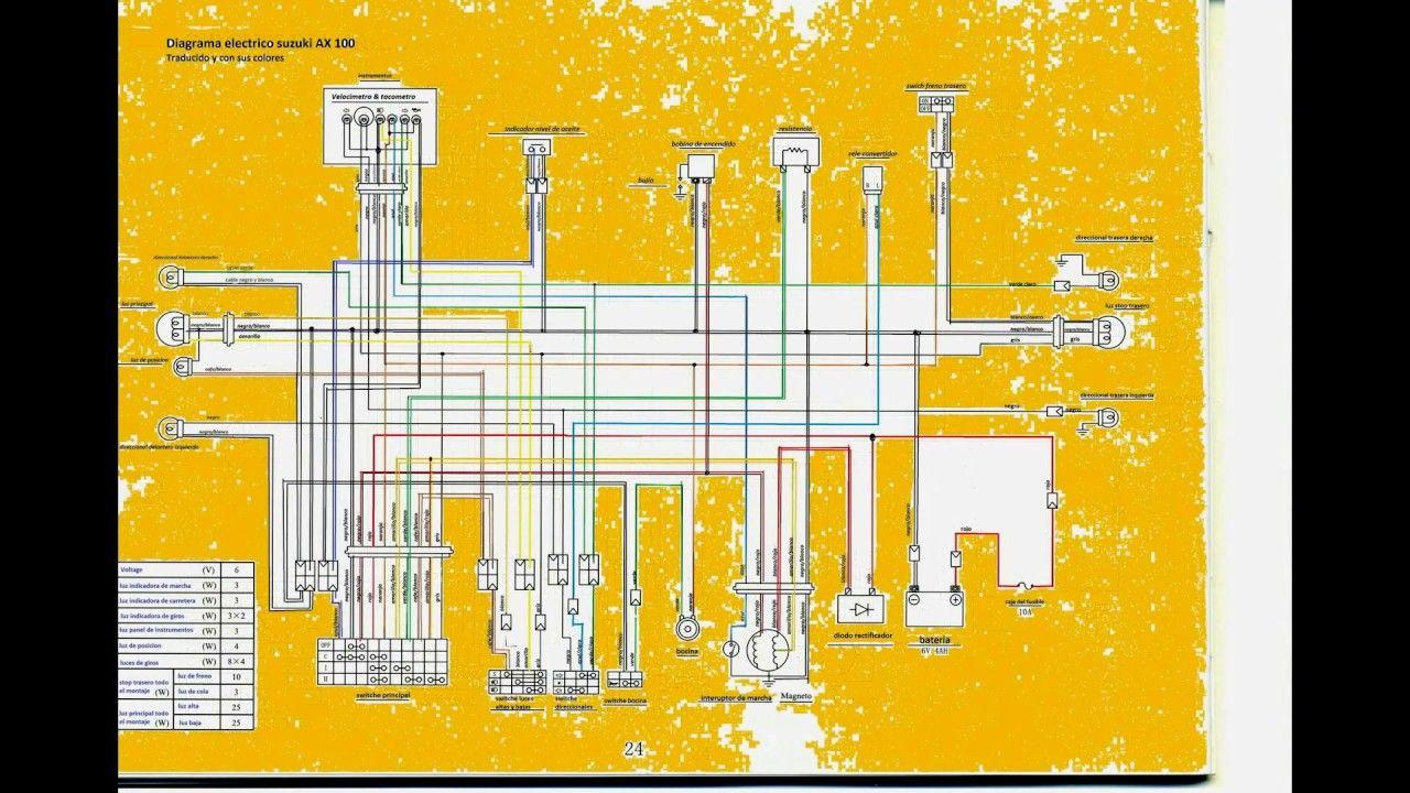 Plano Electrico Ax 100 Suzuki Montajes Eléctricos Diagram