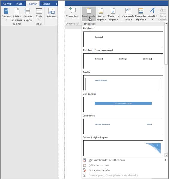 Word-y-Excel: Agregar un encabezado o pie de página en Word   Word y ...