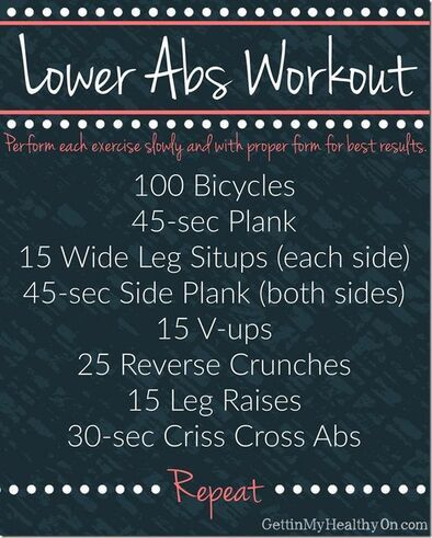 5 Powerful Lower Ab Workouts That Get Results #cheerworkouts