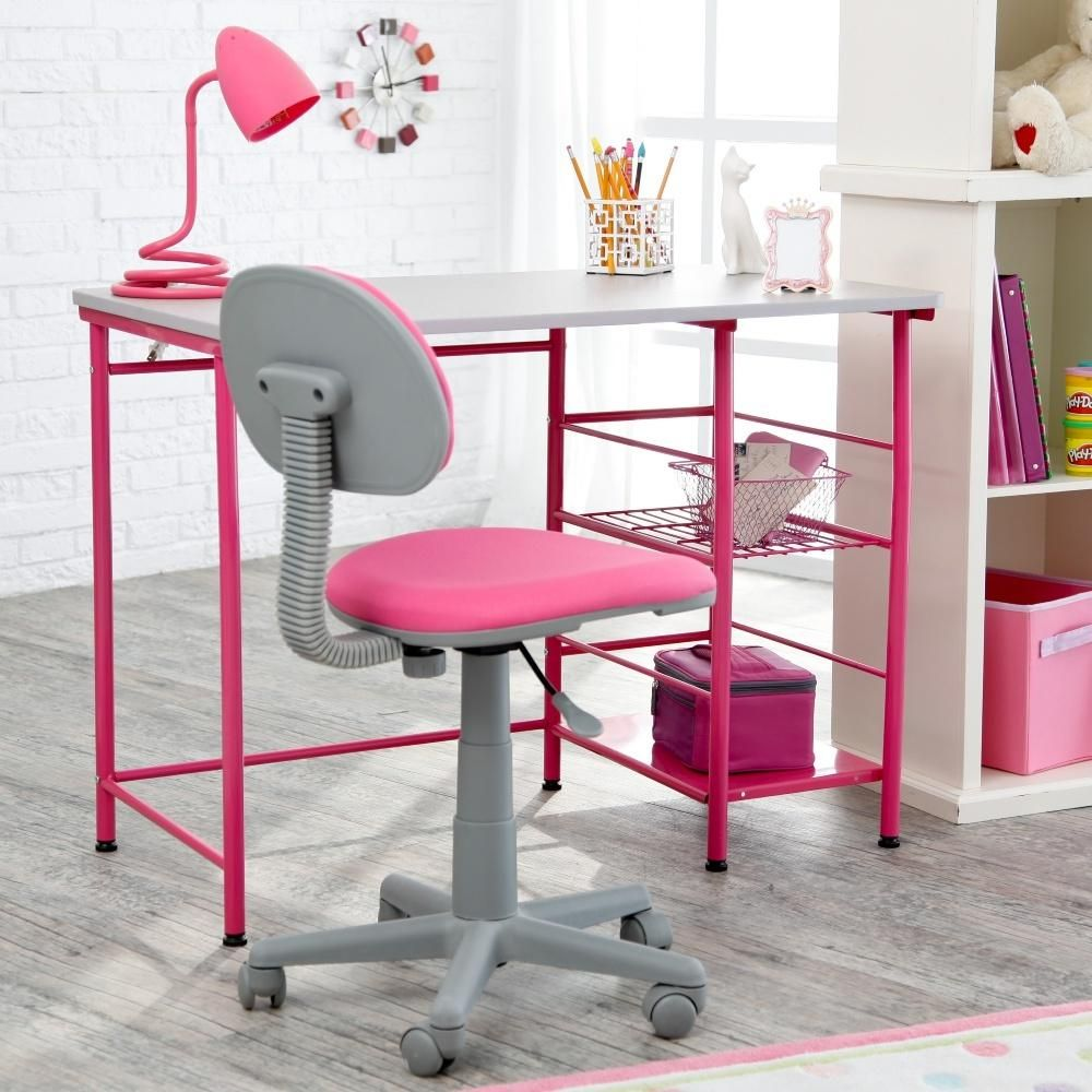 Organize Your Office Space With A Pop Of Color.