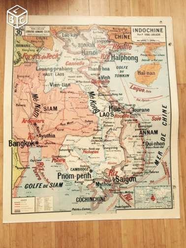 carte vidal lablache le bon coin Lot cartes scolaires vidal lablache brunhes Collection Nord