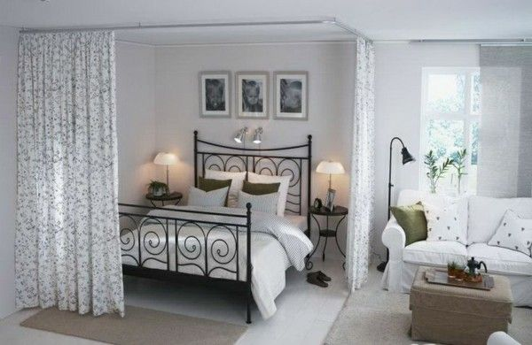 einzimmerwohnung einrichten tolle und praktische einrichtungstipps pinterest bedrooms. Black Bedroom Furniture Sets. Home Design Ideas
