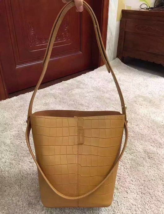 75b076a956f4 2016 Spring Mulberry Small Kite Tote Bag in Camel Deep Embossed Croc Print  Leather