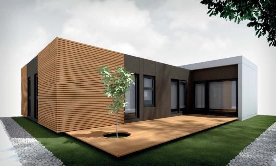 Casa Modular Miami 3 Modulos De La Categoria Casas Modulares Casas Modulares Fachada De Casas Bonitas Casas
