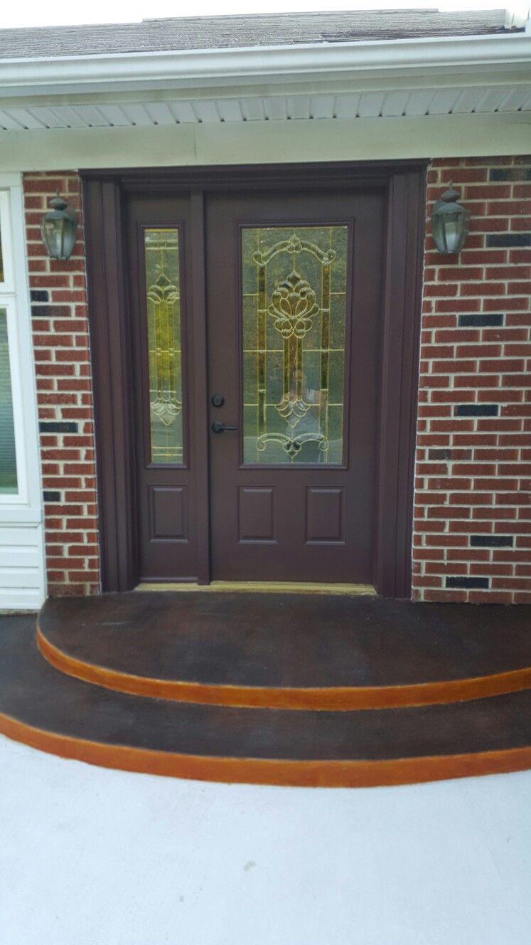Sherwin Williams Paint Polished Mahogany Painted Front Doors Double Doors Exterior Front Door Colors