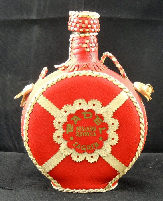 Badel Bosanska Sljivovica Zagreb Red Leather Liquor Etsy Red Red Leather Liquor
