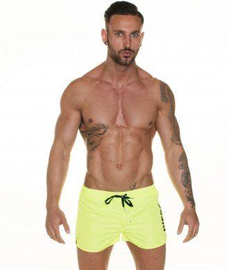 590028679c73be Diesel Fluorescent Yellow Bold Logo Swim Shorts for Summer 2014 ...