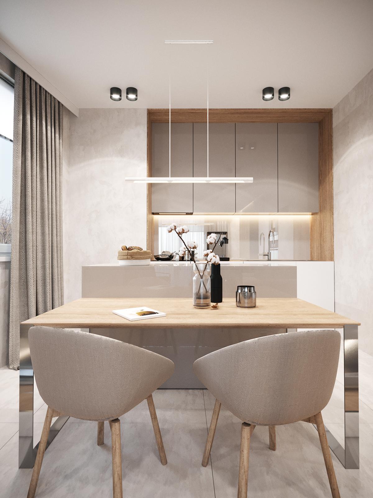 Warsaw cream apartment 48,7 sq.m on Behance Сучасні