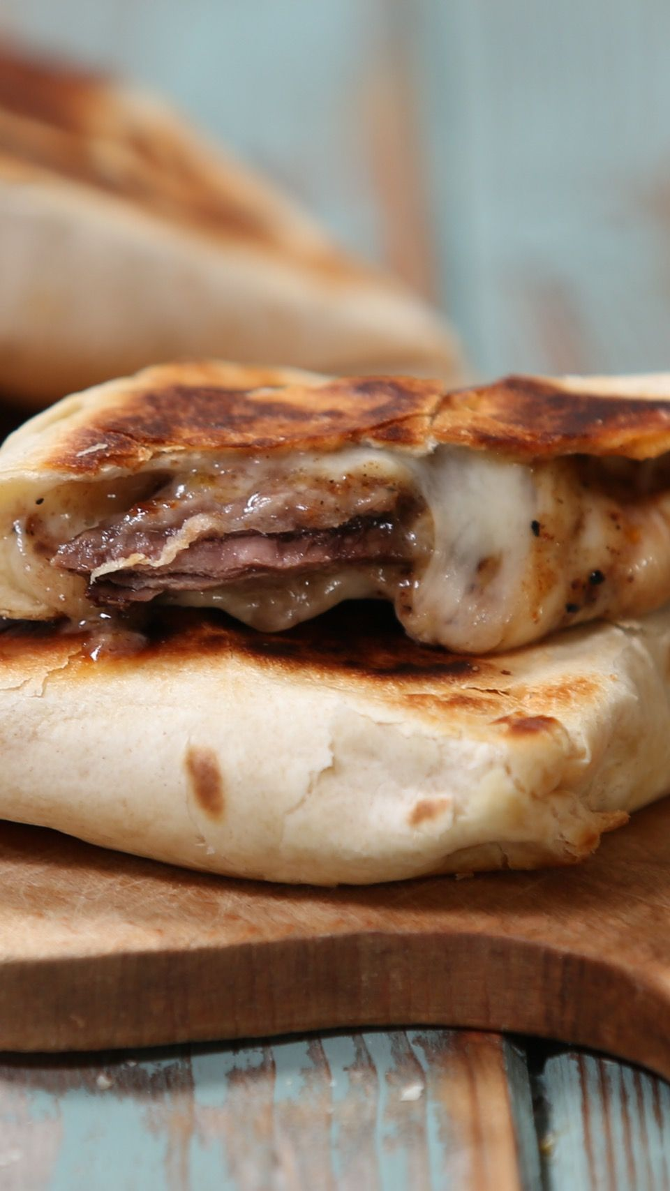 Steak and Cheese Pockets Recipe with video instruc
