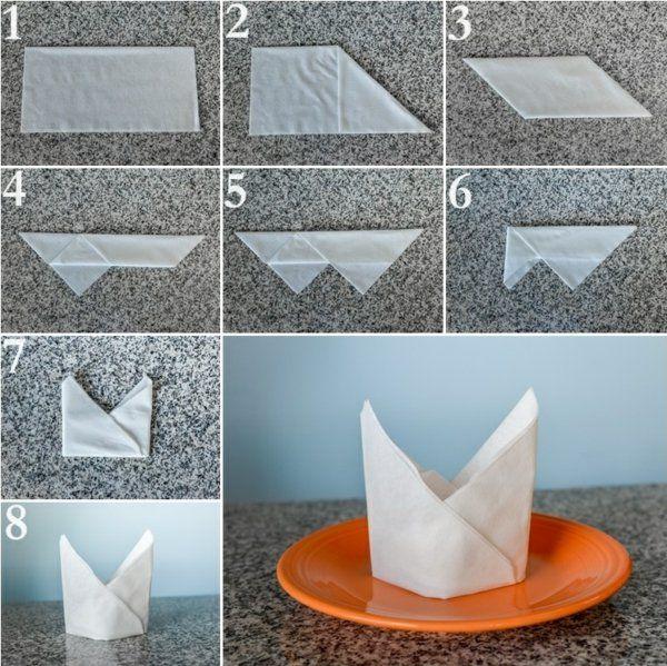papierservietten falten anleitung festliche tischedeko kreieren papierservietten. Black Bedroom Furniture Sets. Home Design Ideas
