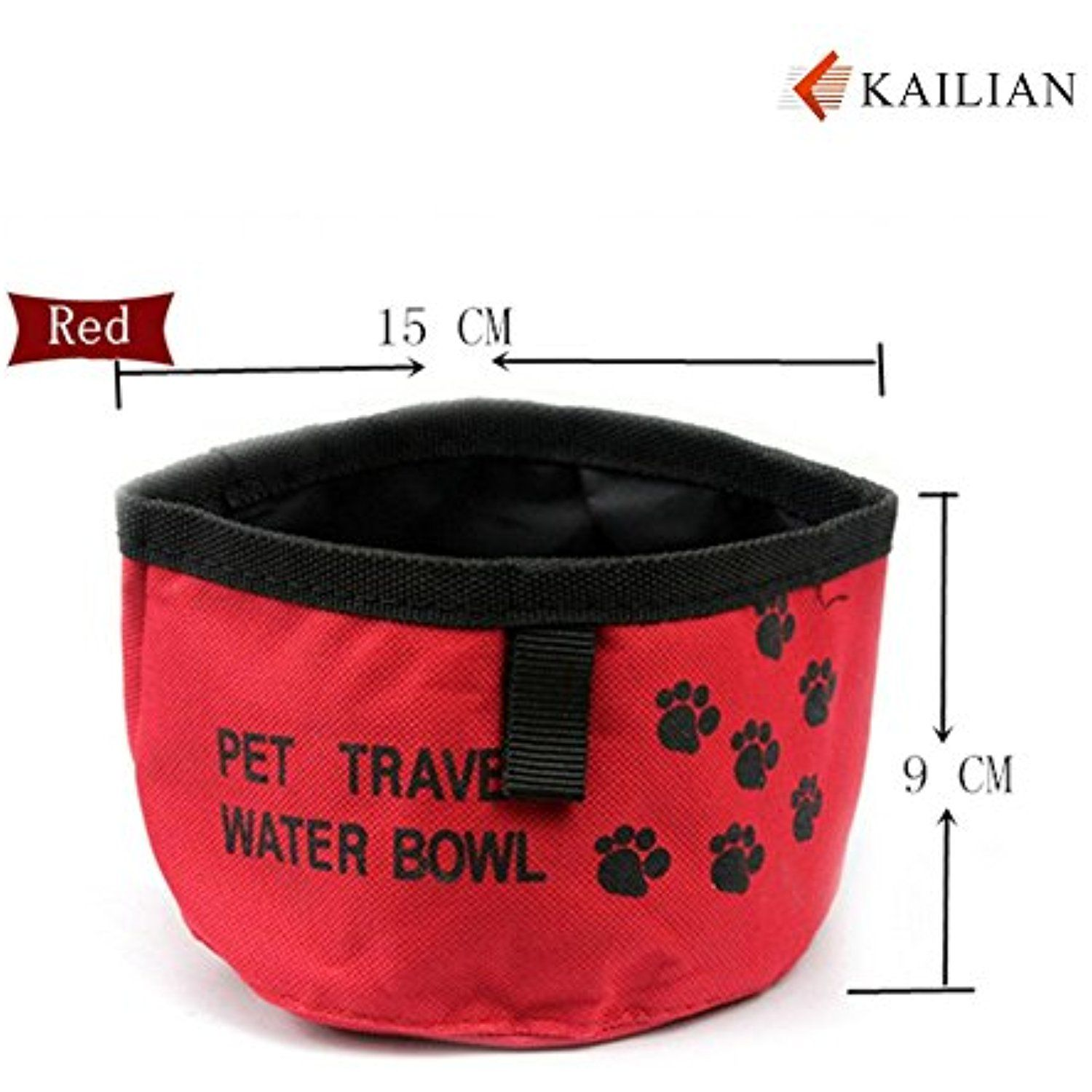 Kailian® Pet Dog Cat Travel BowlRed To have more info