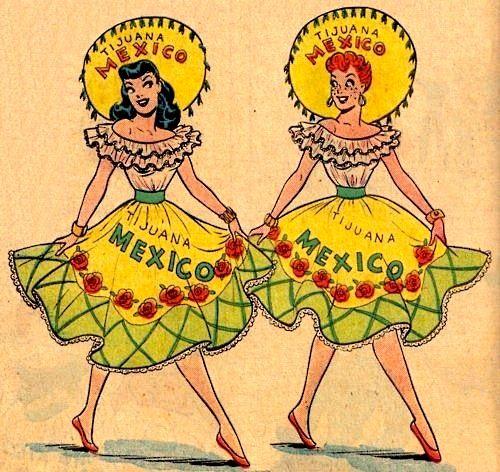 Tijuana Mexico Vintage Postcard