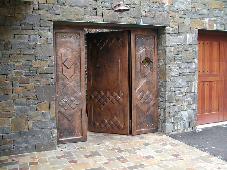 Copper entry door with portcullis. & Copper entry door with portcullis. | making an entrance ...