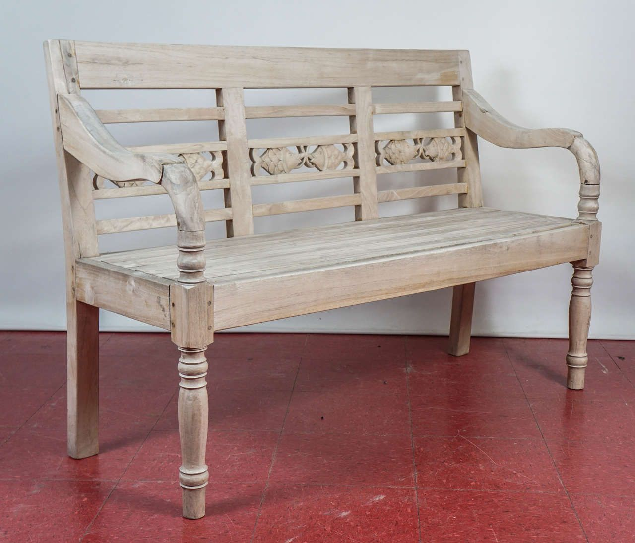 Dutch Colonial Teak Wood Garden Bench | From A Unique Collection Of Antique  And Modern Benches