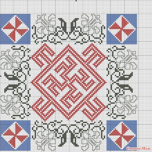 Молвинец вышивка крестом схемы