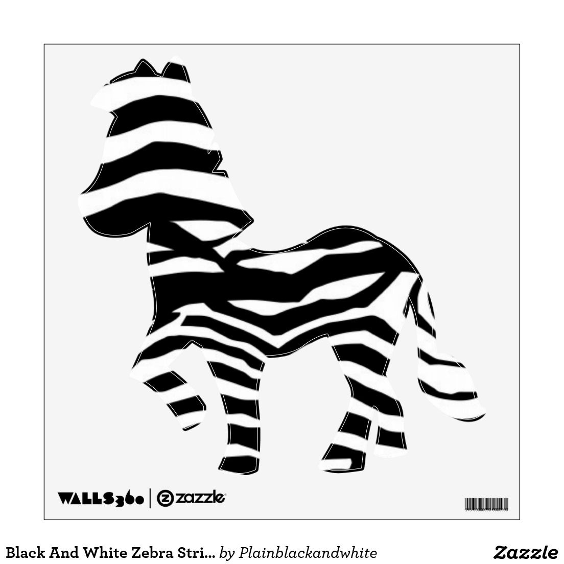Black And White Zebra Stripes Wall Decal Deluxephotos Wall - Zebra stripe wall decals