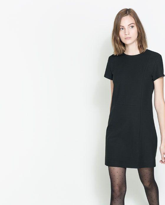 vestidos corte shift de zara