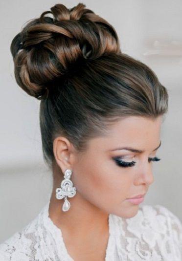 Resultado de imagen para peinados recogidos altos adorno cabello