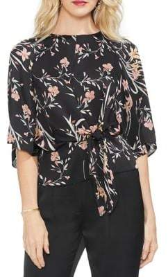 6ae005922c5a Vince Camuto Gilded Rose Bell-Sleeve Floral Printed Blouse ...