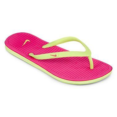 96552e92e11dc Nike® Solar Soft Thong Fashion Sneaker - JCPenney